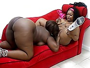 Black Bbws Take Up With The Tongue All Of Each Other's Juices