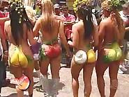 Mulheres Fruta # Mulher Melão Nua Pintada