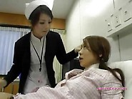 Busty Asian Girl Kissing Spitting With The Nurse On The Bed In T