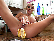 Hardcore Food Fetish Solo Video With Fake-Boobed Blond Milf Puma