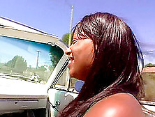 Black Butt Ebony Lenora Compactly Throbbed Hardcore Outdoor