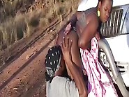 Chubby African Babe Gets Her Cunt Toyed By Huge Dildo In The For