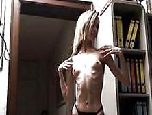 Skinny Bony Babe Posing