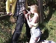 Abby Fellating Fuck-Stick Outdoor