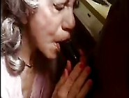 Nasty Old Gray Haired Granny Gets A Big Black Cock To Suck And F