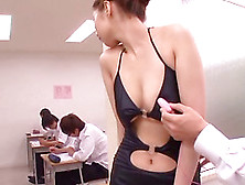 Students Take A Test While The Slutty Teacher Plays With A Cowor