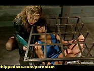 Lesbian Bdsm And Strap-On Anal In Bondage