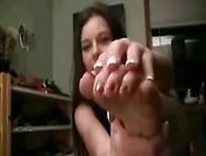 Foot Teasing Long Soles Closeup