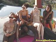 Tatiana Kush Enjoys Group Fuck