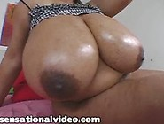 Super Busty Black Bbw Deja Plays With Her Huge 44F Tits And Puss
