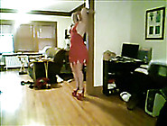 Extremely Horny Bitch With Big Boobs Strips In A Sexy Way In Fro