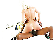 Bootylicious Seductive Auburn Cowgirl Rides Super Strong Black D