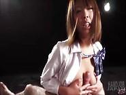 Teen Japanese Makes Handjob & Cumshot - Rion Karina