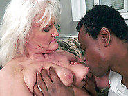 Granny Goes Black And His Fat Cock Makes Her Old Pussy Feel Good