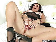 Chubby British Mature With Long,  Red Nails And Her Friends Are M