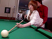 Cock Loving Japanese Slut Gets Fucked In A Pool Hall
