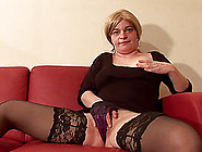 Big Mature Titties And A Shaved Pussy Look Hot On The Hardcore S