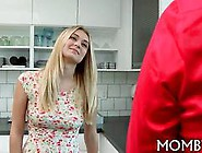 Blonde Milf Entices A Teen Couple Into Banging Her Brains Out