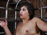 Tied Up Chick Gets Her Pussy Lips Opened Up For Lusty Torture
