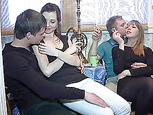 Horny Teens Are Fucked Silly By Two Dudes In A Foursome