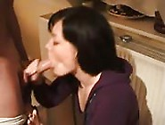 Amateur Clothed Babe Give Guy A Blowjob