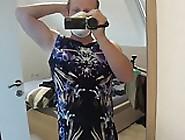 Wearing A Summer-Dress And Blue Socks
