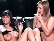 Smokeymouths Roxanne And Karen Wood Smoking Fetish Lesbian Sex-P