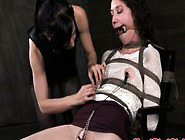 Sadistic Lezdom Domina Torments Sub With Painful Objects