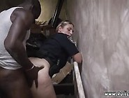 Black Cop Teen And Fake Taxi Fucks Police Officer Illegal Street