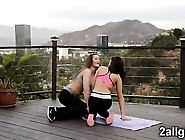 Dani And Saras Hoy Yoga Class Ends With Sexy Nuru Massage