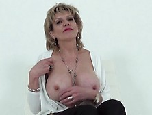 Playful Aunt Sonia Agrees To Show Off Her Succulent 34G Bazookas