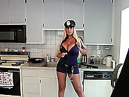 Backstage Footage Of A Sexy Police Woman In Uniform