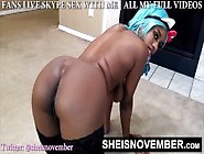 Beautiful Slim Pooting Black Girl Naked Butt Spreading & Farting