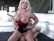 Big Titted Alura Jenson Sits On His Face And Cums As He Licks