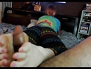 Cute Nerdy Girl In Glasses Footjob 28