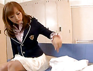Cutie Yu Namiki Has Her Beaver Pleased In The Classroom