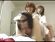 Japanese Girls Rough Strapon Gangbang