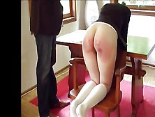 Redhead Teen Schoolgirl Gets A Good Spanking On Her Cute Ass