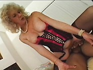 Big Breasted Granny In Lingerie Spreads Her Legs For A Huge Blac