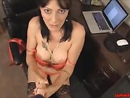 Cum On Black Stocking Of Sexy Hot Milf Teacher