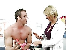 Hot Blonde Doctor Brianna Beach Fucking In Lingerie