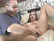 Seductive Babe Jennifer Luv Gets Her Shaved Pussy Finger Fucked