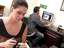 Alison Tyler Squeezes Cum On Her Giant Tits
