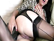 Lecherous Milf Uses Shoes To Penetrate Her Hungry Twat