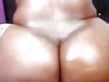 Ebony Bbw Showing Off Her Huge Ass On Webcam