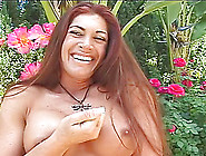 Milf With Big Tits Stripping Outdoor Then Replenished Hardcore D