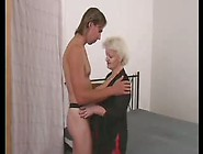 Blonde Bbw Mature With A Young Man