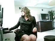 Crossdresser - New Black Leather Outfit - Youtube