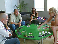 Boring Poker Game Quickly Turns Into The Wild Pussy Stuffing