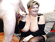 Mega Busty Blonde Mommy Sucks My Hard Dick With Great Desire